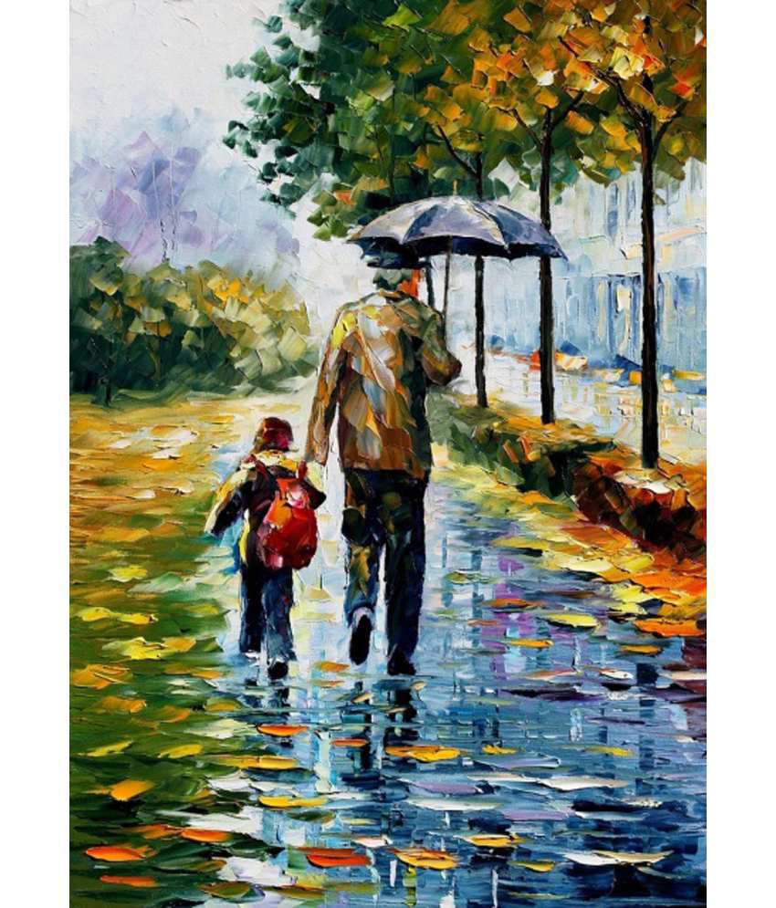 Elite collection digitally printed frameless canvas painting father son buy elite collection digitally printed frameless canvas painting father son at
