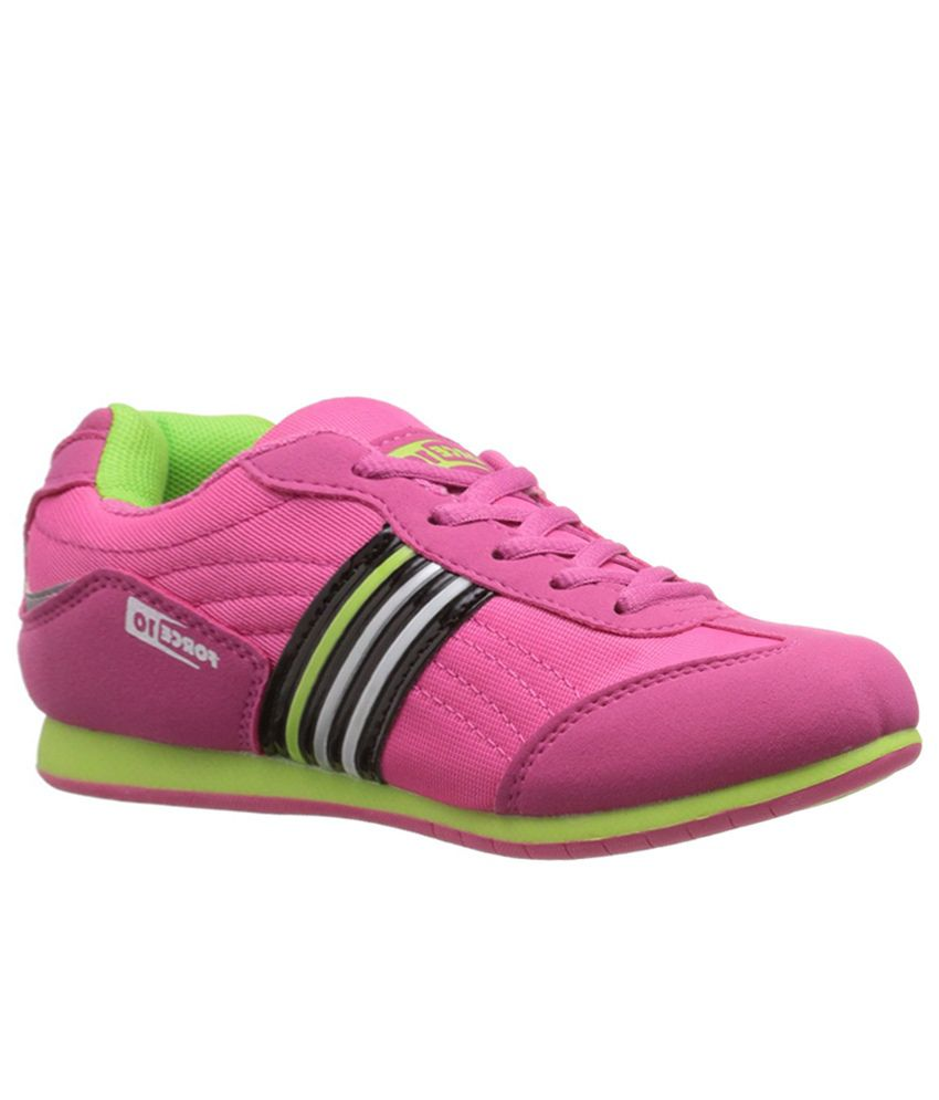Gliders Pink Lace Womens Sports Shoes