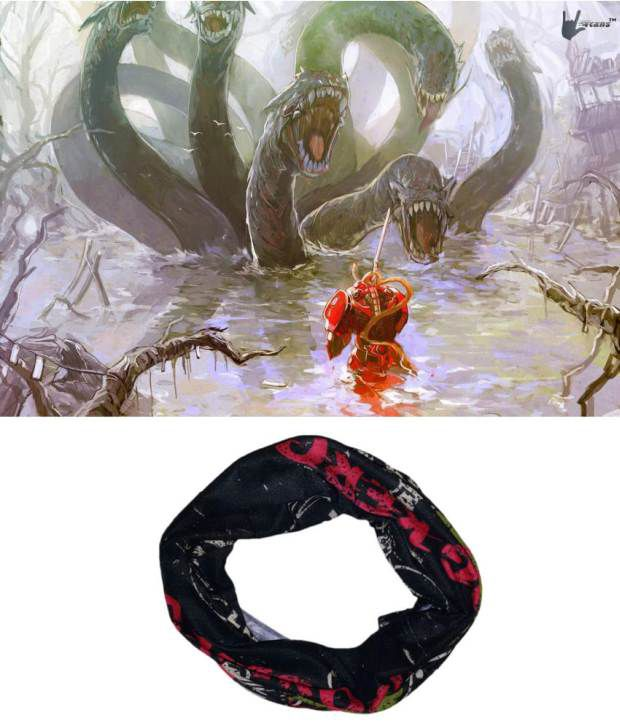 Lycans Black Head Wrap And Laptop Skin Combo