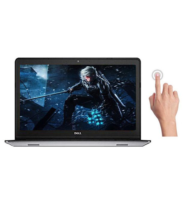 Dell Inspiron 15 5548 Laptop (X560556IN9) (5th Gen Core i7- 8GB RAM- 1TB HDD- 39.62cm (15.6) Touch- Win8.1- 4GB Graphics) (Silver)