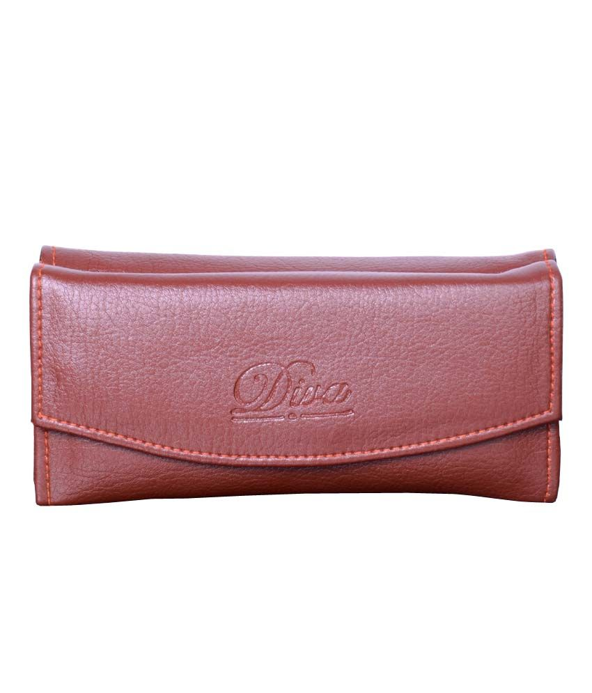 Hysty Brown Leather Casual Wallet