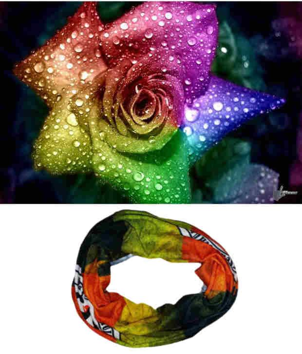 Lycans Orange And Green Head Wrap And Laptop Skin Combo