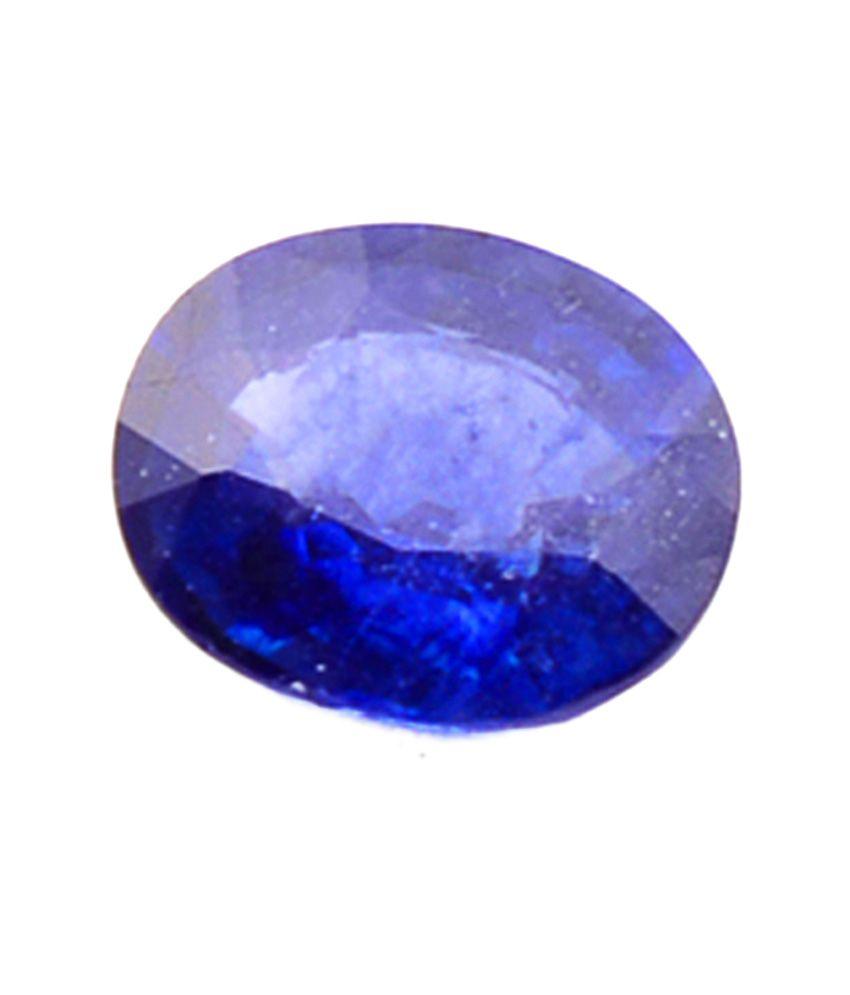 Shiva Rudraksha Ratna Natural Blue Sapphire - 3.73 Carat
