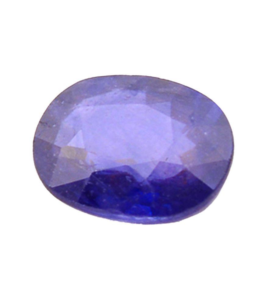 Shiva Rudraksha Ratna Natural Blue Sapphire - 3.69 Carat