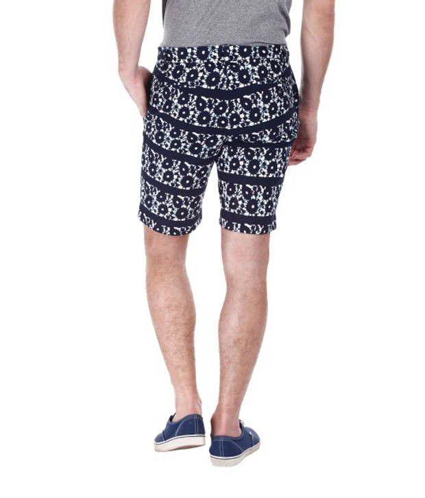 Zobello Cotton Batik Print Mens Shorts