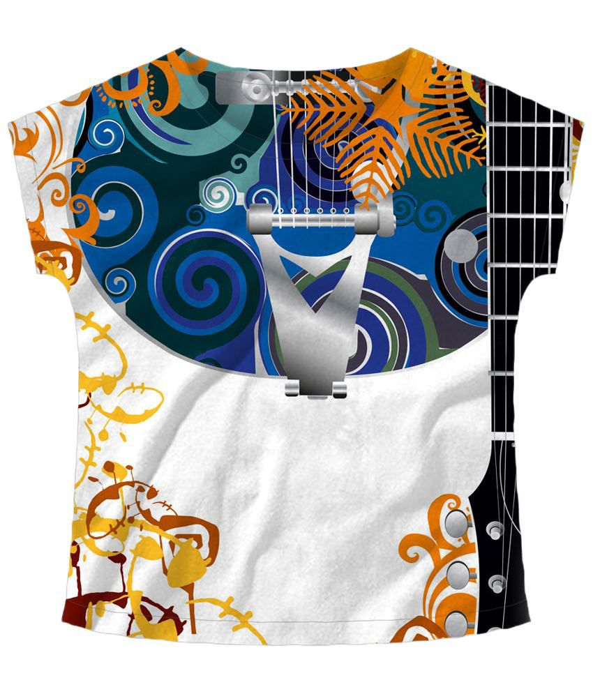 Freecultr Express Multicolour Strings Boat Neck Printed T Shirt