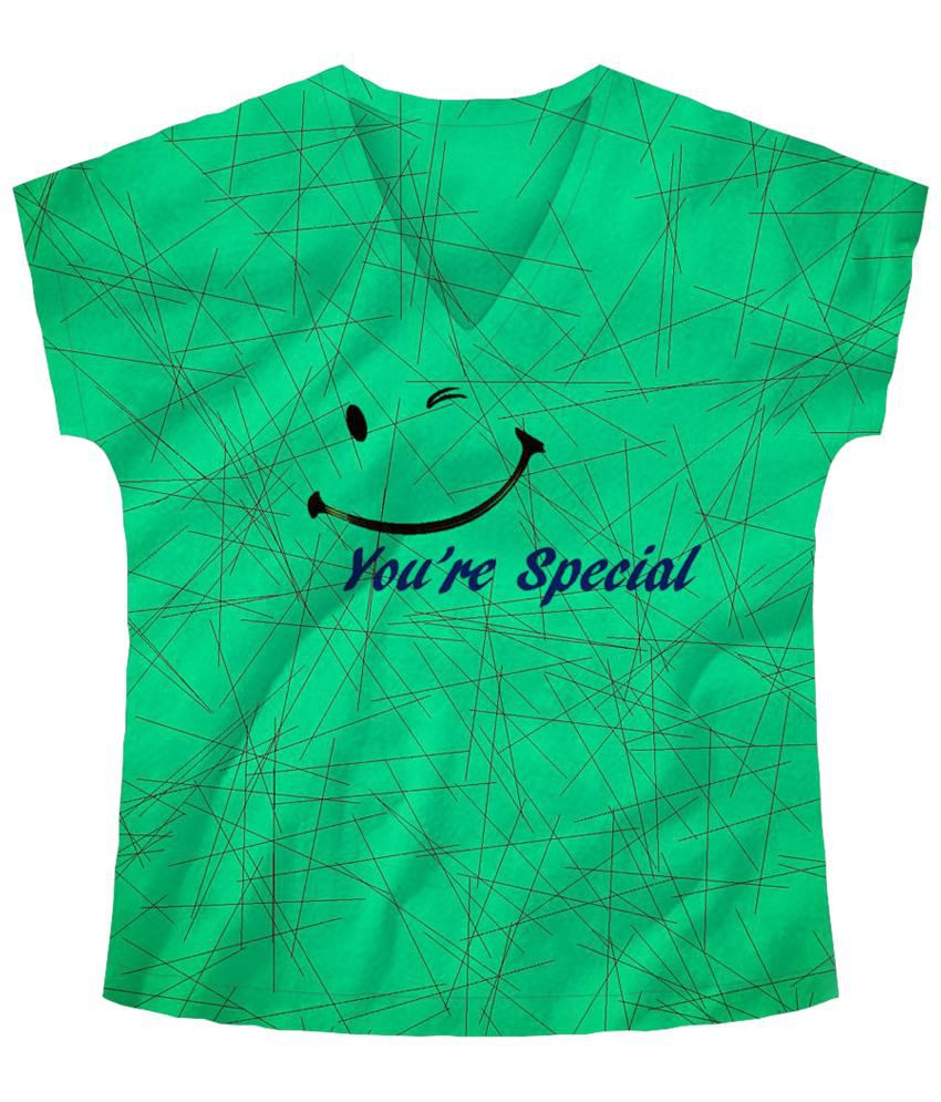 Freecultr Express You Are Special Green & Blue Graphic T Shirt