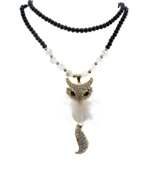 Modish Look Furry Cat Necklace