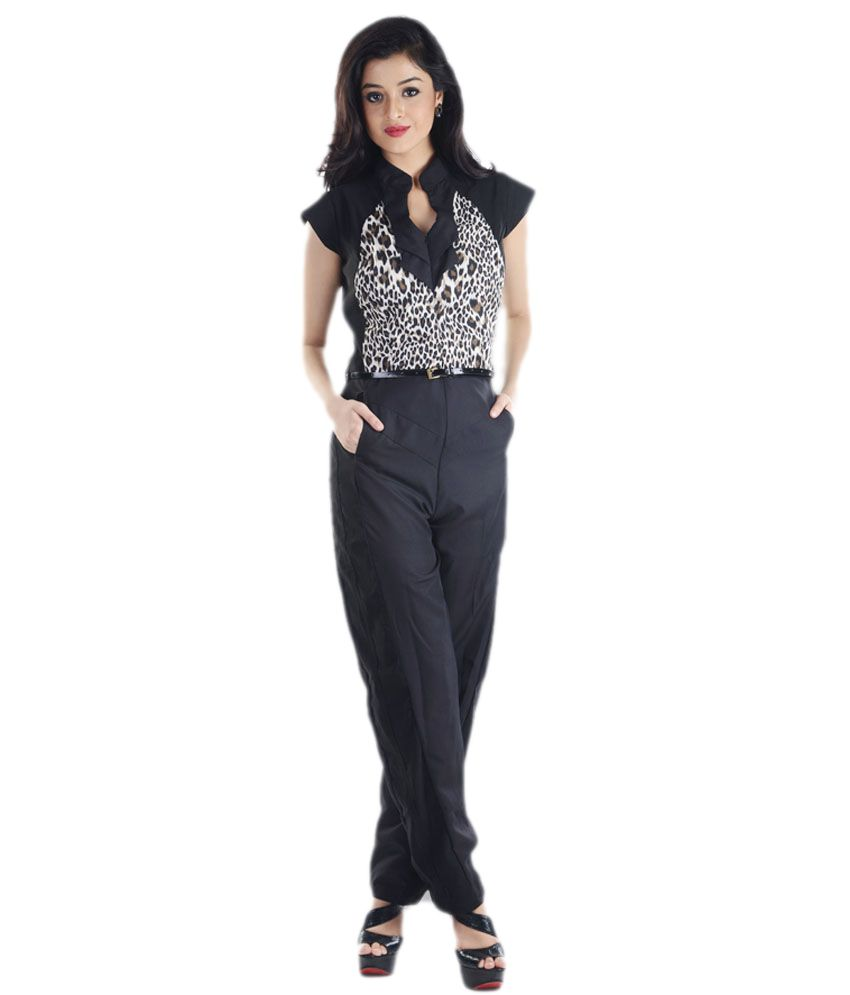 ade5da6e2af1 Vea Kupia Black Poly Crepe Jumpsuits - Buy Vea Kupia Black Poly Crepe Jumpsuits  Online at Best Prices in India on Snapdeal
