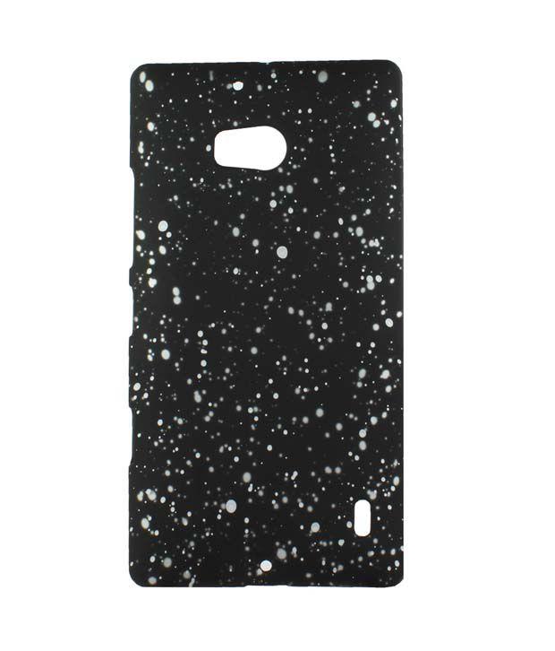 Heartly Night Sky Glitter Star 3D Design Retro Armor Hard Bumper Back Case Cover For Nokia Lumia 930 929 - Champagne Silver