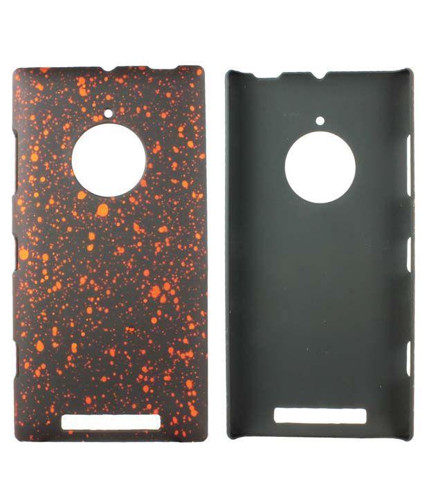Heartly Night Sky Glitter Star 3D Design Retro Armor Hard Bumper Back Case Cover For Nokia Lumia 830 RM-984 - Vintage Orange