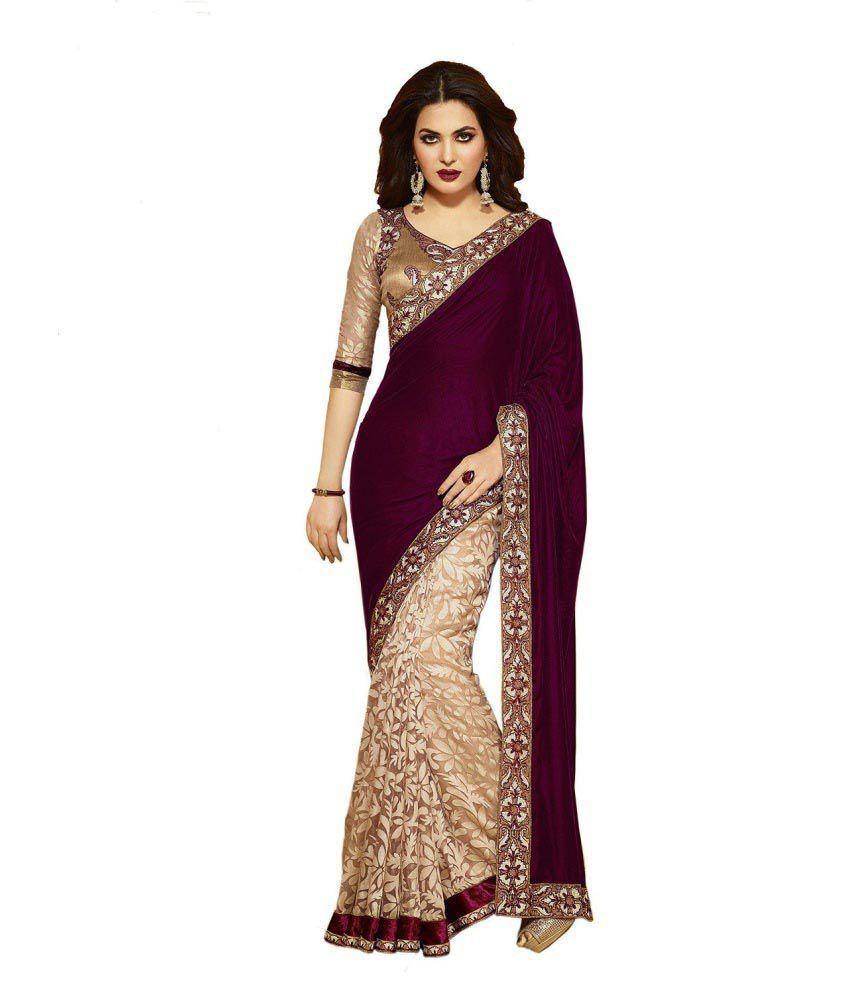 janasya brown velvet saree buy janasya brown velvet saree online at low price. Black Bedroom Furniture Sets. Home Design Ideas