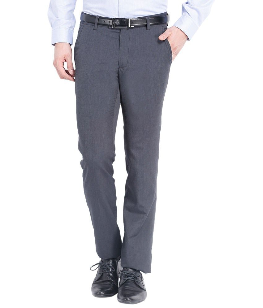 Black Coffee Gray Formal Trousers