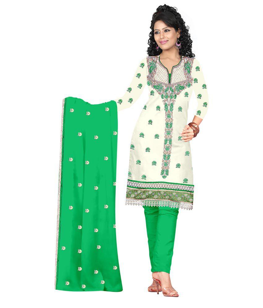 28084737aa Fashion Ghar White Cotton Silk Unstitched Dress Material - Buy Fashion Ghar White  Cotton Silk Unstitched Dress Material Online at Best Prices in India on ...