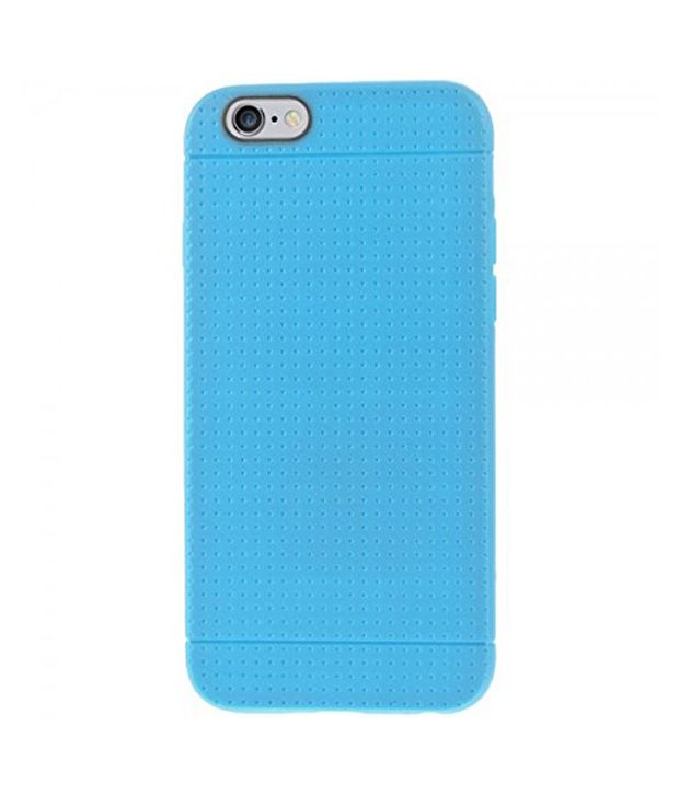 Heartly New Retro Dotted Design Hole Soft Tpu Matte Bumper Back Blue Case Cover For Apple iPhone 6 4.7 inch