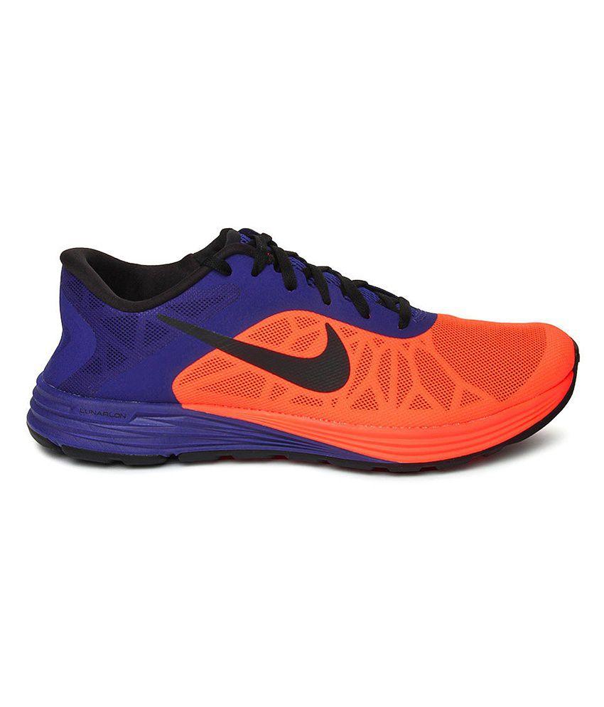Nike Lunarlaunch Orange Sport Shoes
