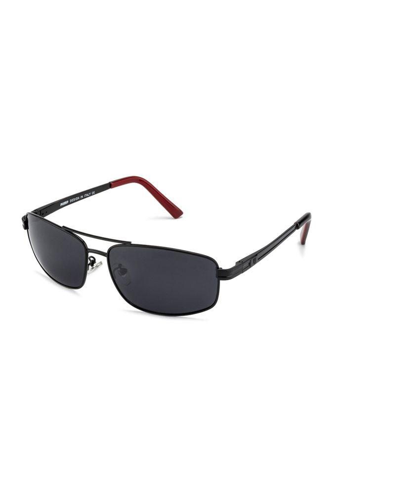 Pump Black Metal Square Sunglasses