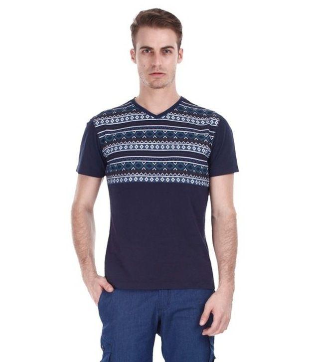 Zobello Blue Cotton T Shirt