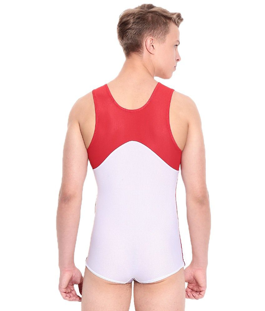 8aab69f7d41f Adidas White   Red Gymnastics Leotard For Men  Buy Online at Best ...