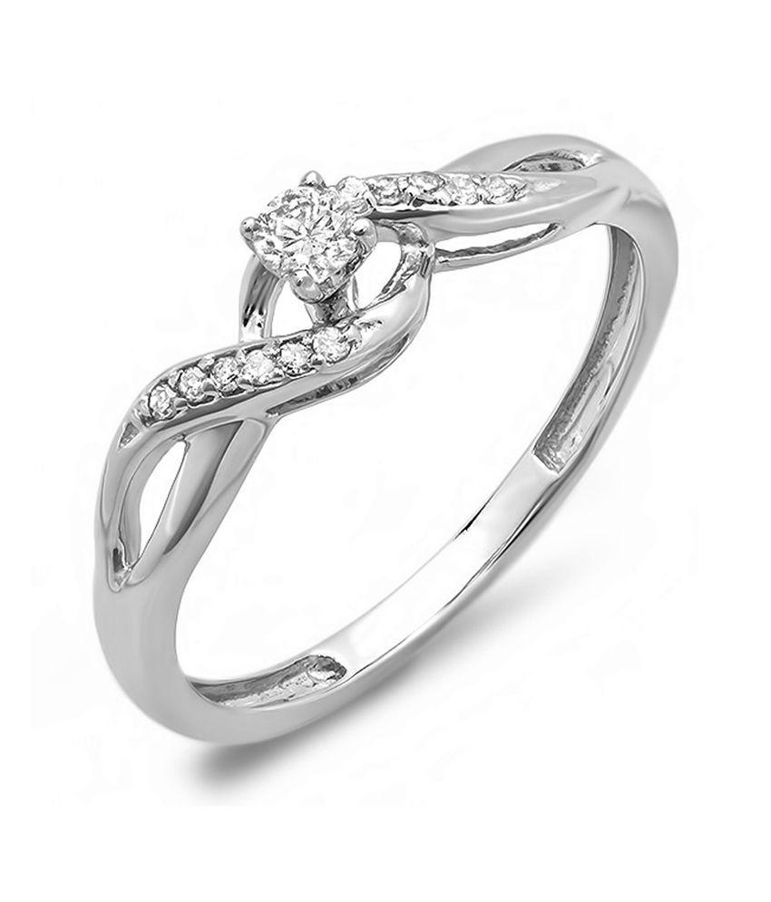 Kavya-jewels Gold Round Diamond Bridal Ring