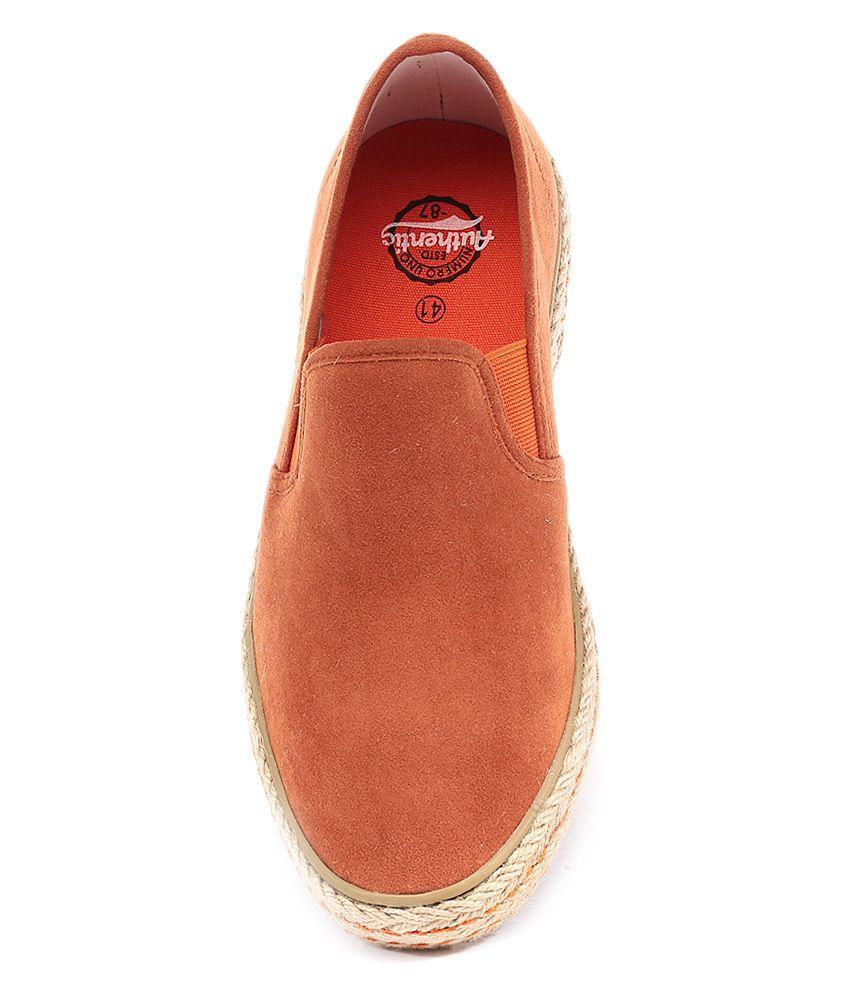 product numero uno orange casual shoes