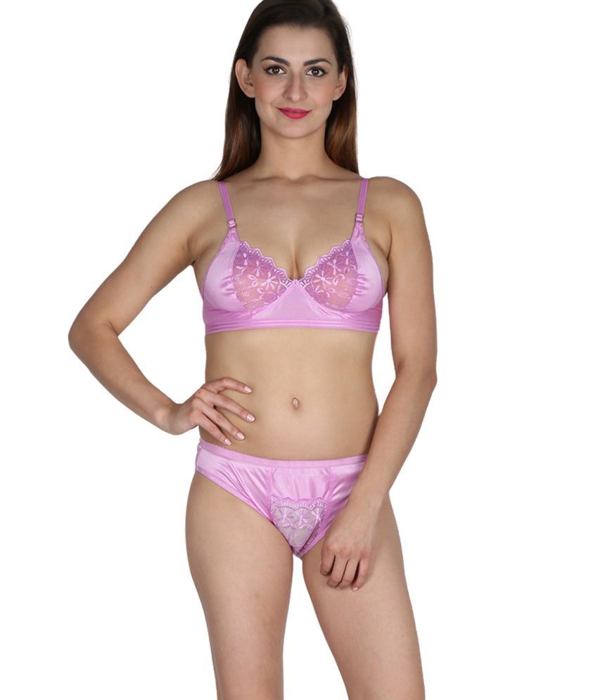 2a66e1222 Buy Nutex Sangini Pink Satin Bra   Panty Sets Online at Best Prices in  India - Snapdeal