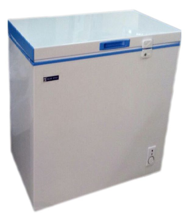 Blue Star 100 LTR Chest Freezer - CHFSD100D Deep Freezer White and Blue