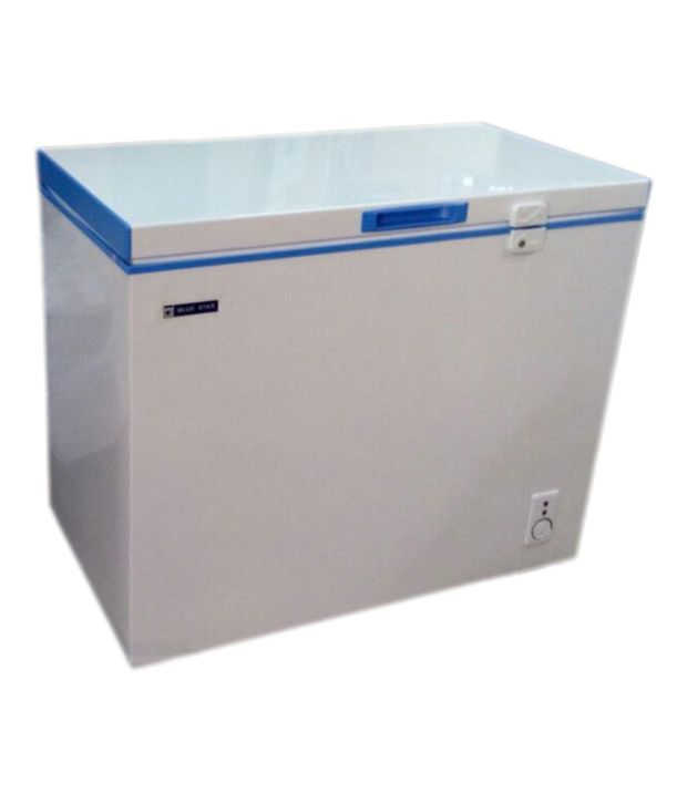 Blue Star 200LTR Chest Freezer - CHF200C/CHFSD200D Deep Freezer White and Blue