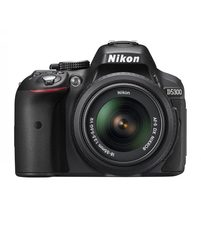 nikon d5300 dslr camera 18-55&55-200 vr lenses combo kit 8gb card carrying case