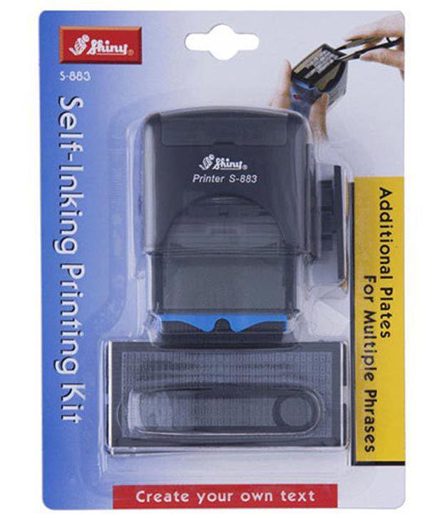 Shiny S-883 Self Inking Stamp Printing Kit DIY Set