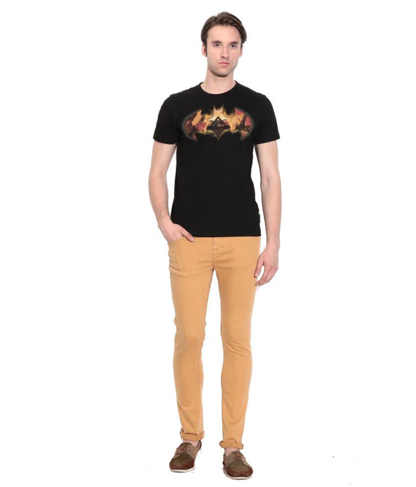 Batman Black Cotton Printed T-shirt