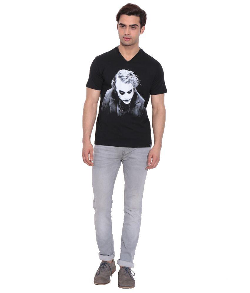 Dark Knight Black Cotton Printed T-Shirt