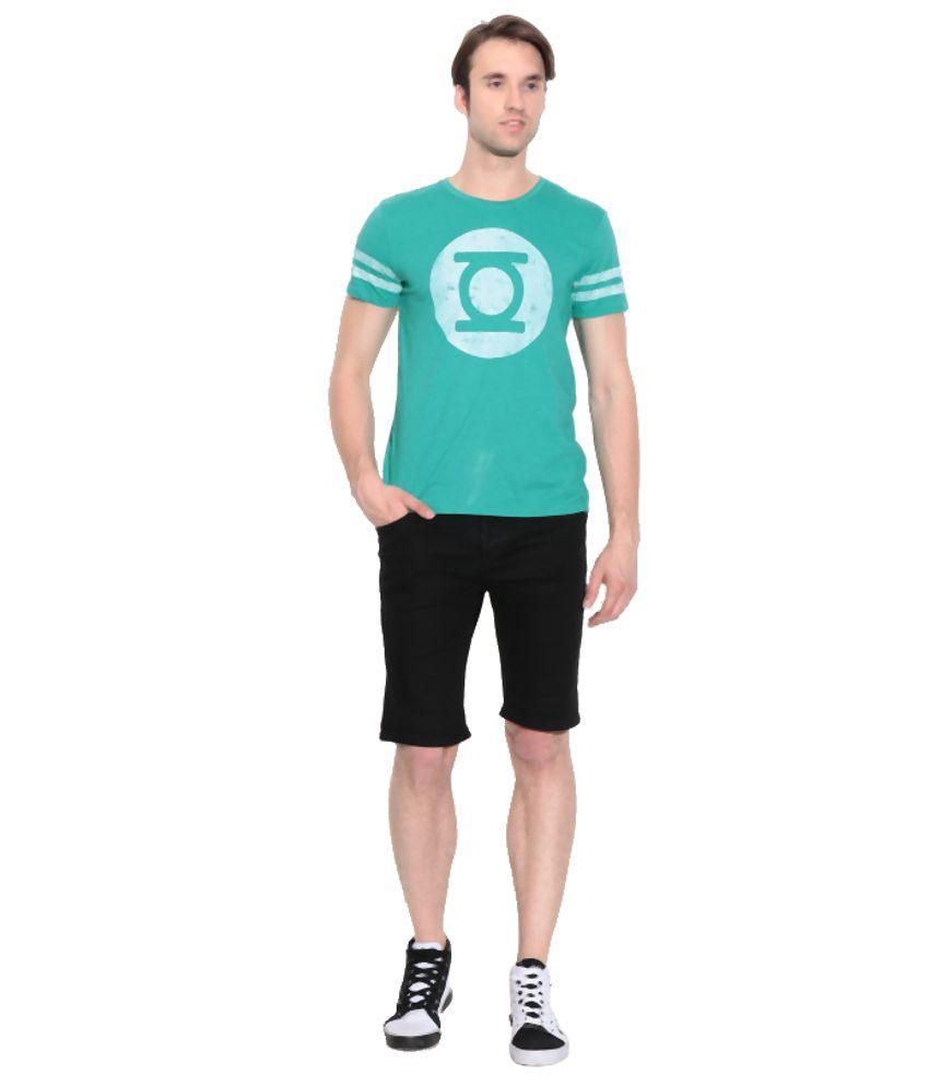 Dc Comics Green Cotton Printed T-Shirt