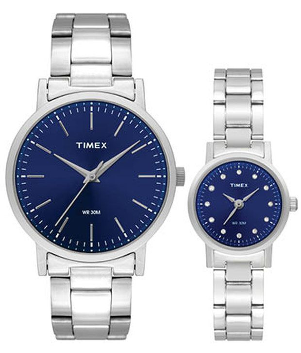 Timex Tw00pr199 Couple Watch Price In India Buy Timex