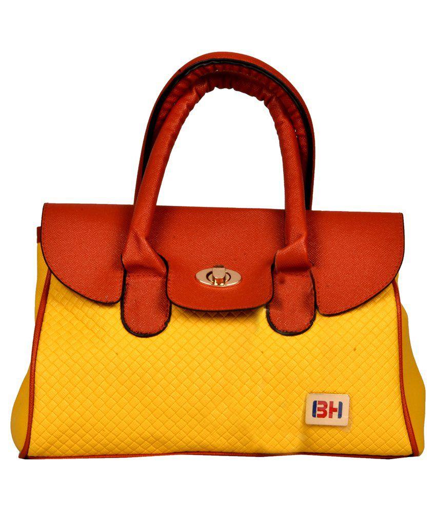 Bh Wholesale Market Yellow Five Compartments Shoulder Bag