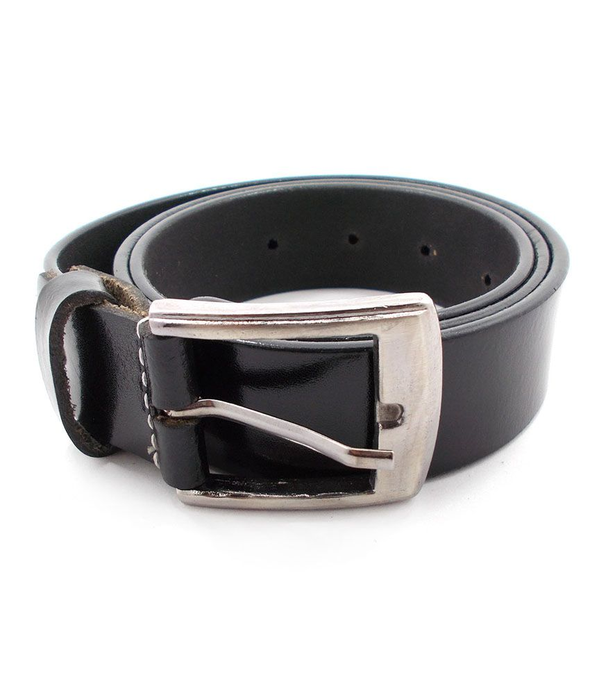 Inle Street Kanpur Black Leather Formal Men Belt