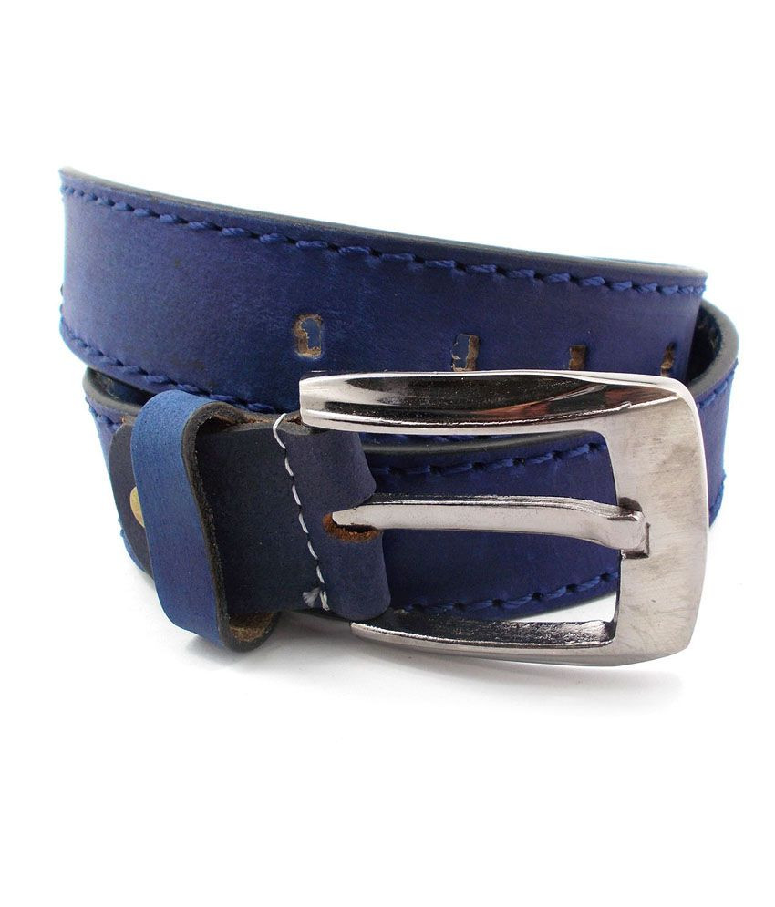 Inle Street Kanpur Blue Leather Casual Men Belt
