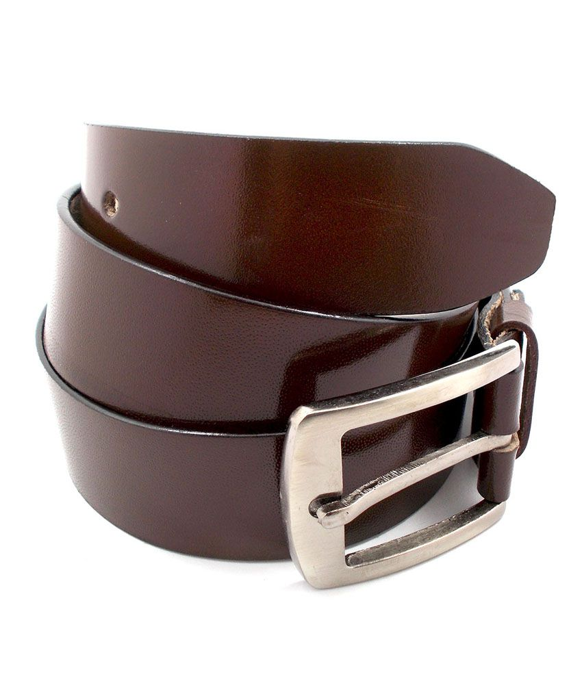 Inle Street Kanpur Brown Leather Formal Men Belt