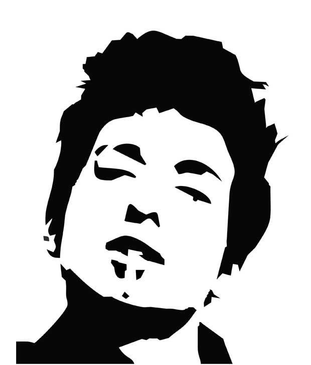 Studio Briana Black Bob Dylan Artistic Silhouette Wall