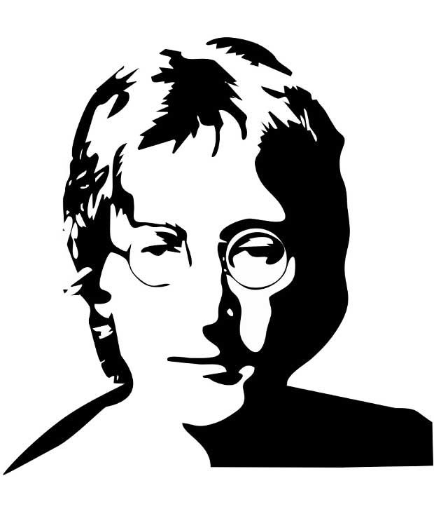 Studio Briana Black John Lennon Line Vector Wall Decor