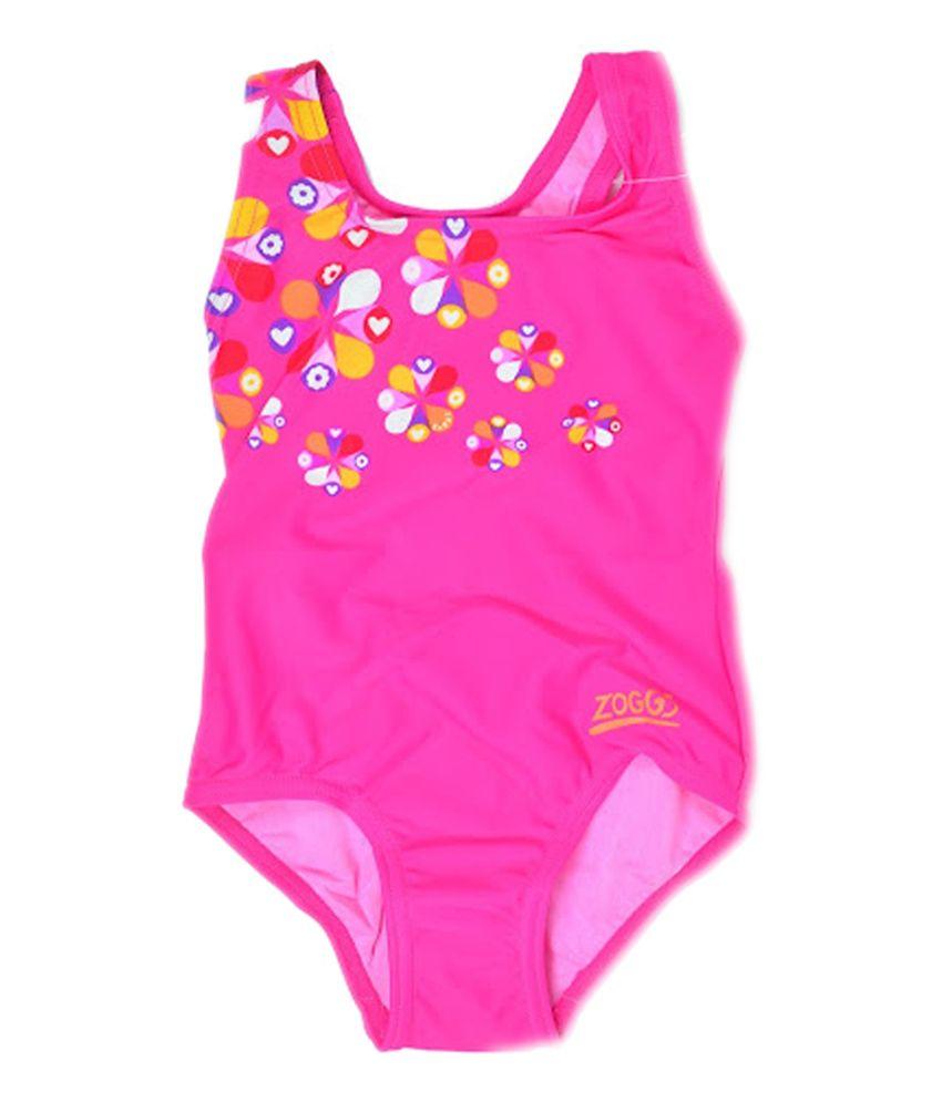 Zoggs Girls Ellis Actionback Swimwear Pink23 96429723/ Swimming Costume