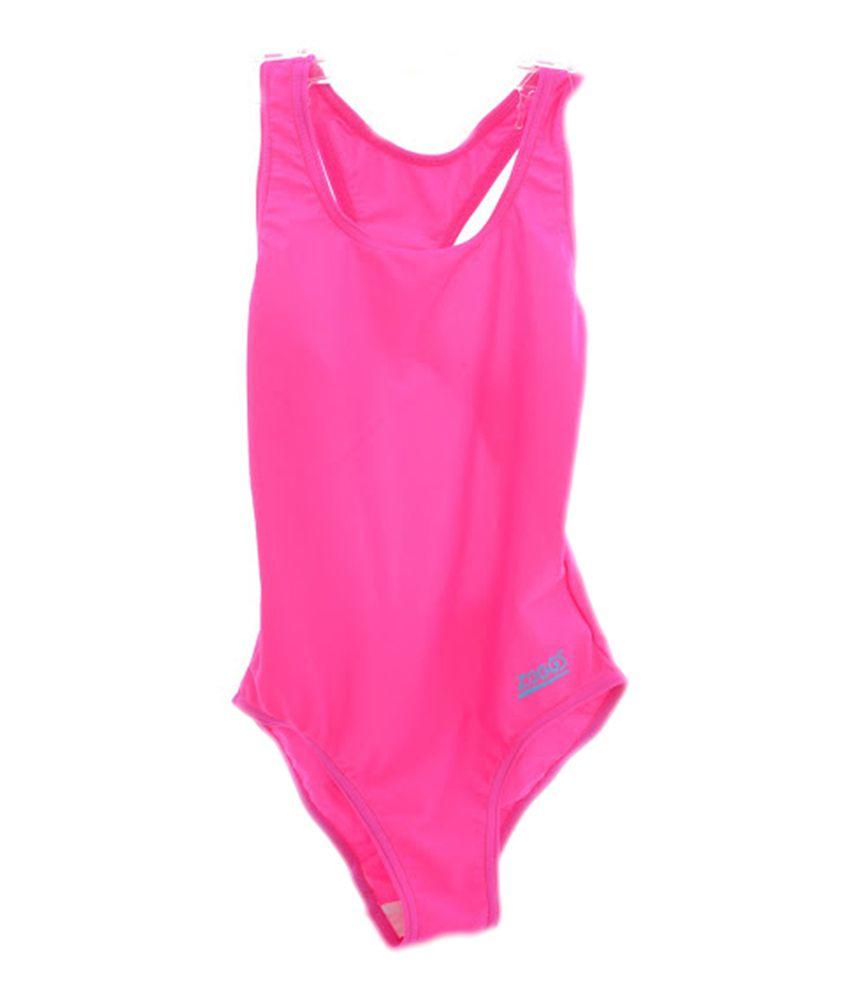 Zoggs Tots Bellambie Actionback Girls Swimwear Pink23 96400923/ Swimming Costume