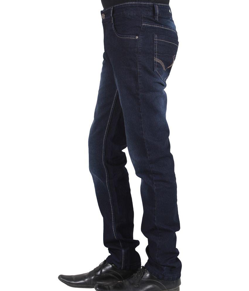 Jack Berry Navy Cotton Blend Regularfit Strechable Jeans