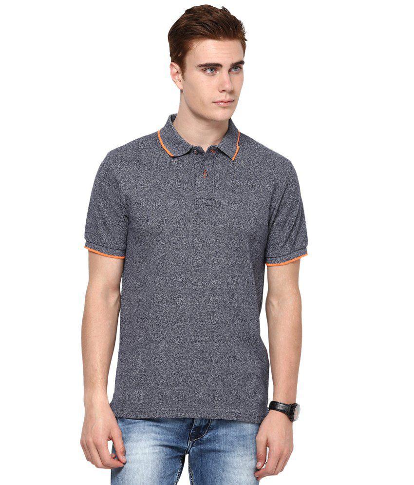 Mudo Gray Cotton Half Henlay T shirt