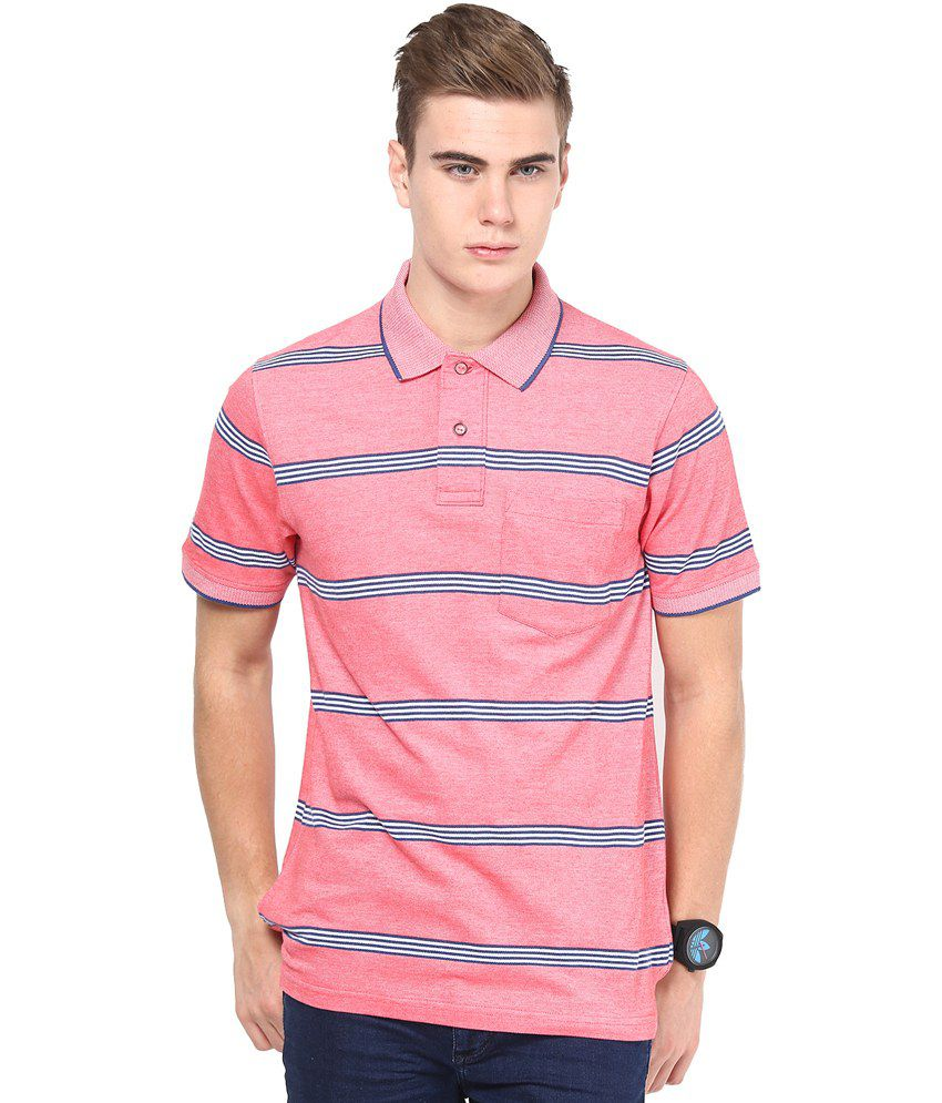 Mudo Red Cotton Half Henlay T shirt