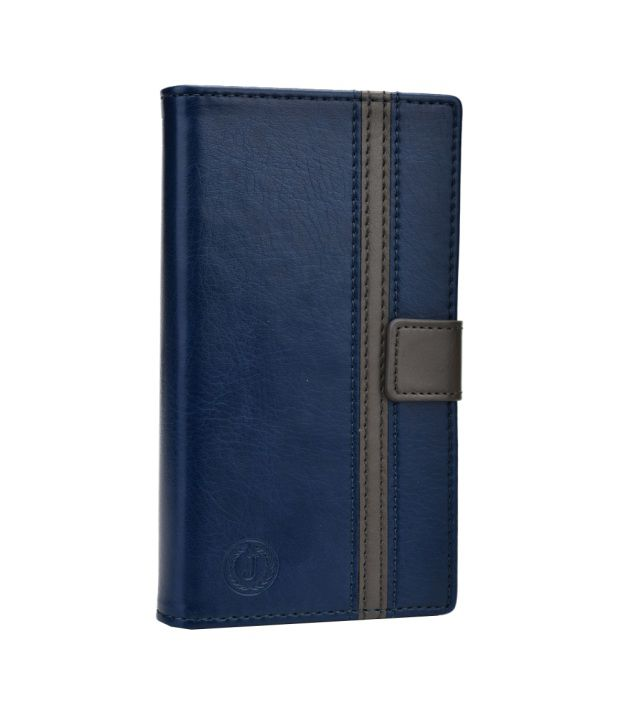 Jo Jo Cover Pluto Series Leather Pouch Flip Case For Huawei Honor 6 Dark Blue Grey