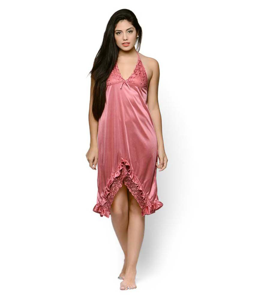 buy klamotten pink satin baby doll dresses online at best prices in india snapdeal. Black Bedroom Furniture Sets. Home Design Ideas