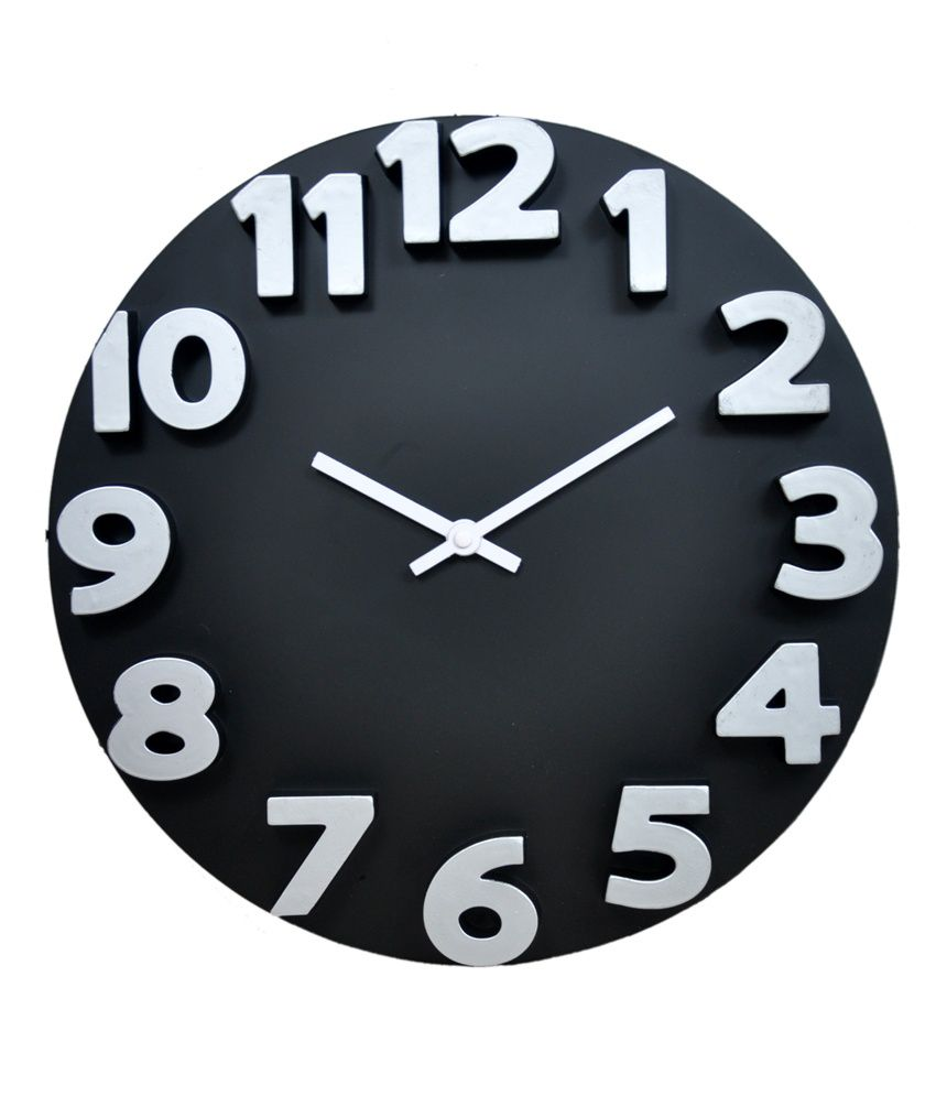 Panache Black 3D Wall Clock