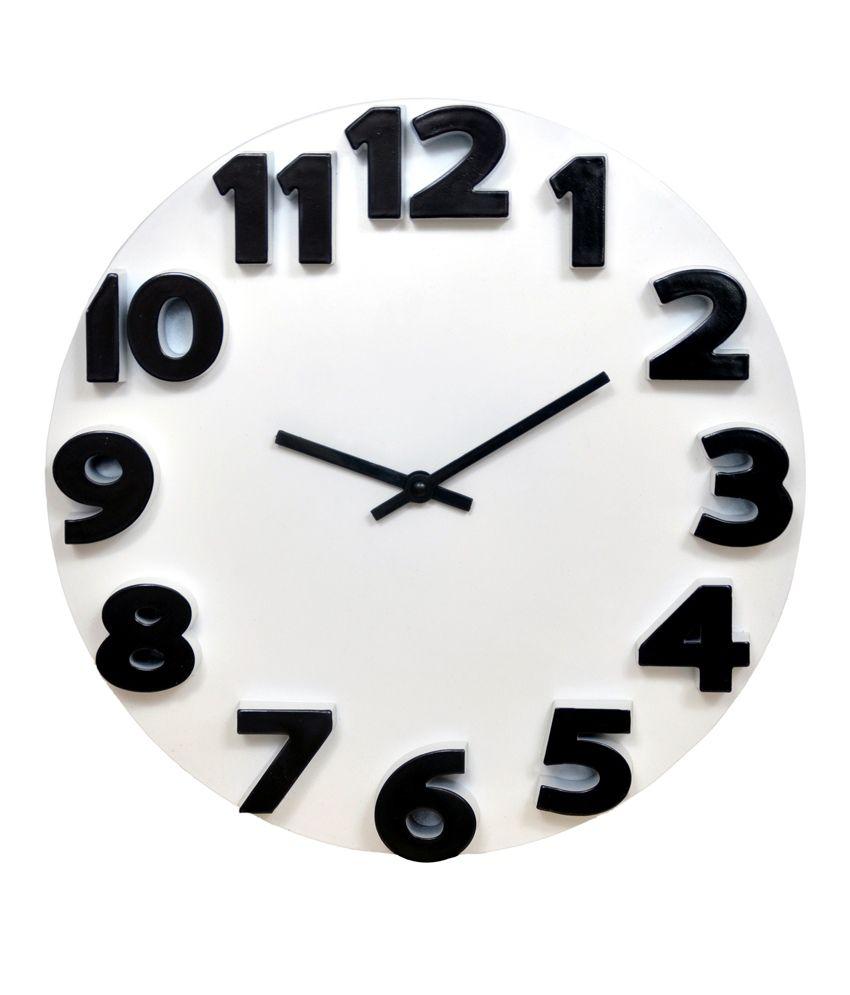 Klok 3d Analog Wall Clock White Wall Clock Buy Klok 3d