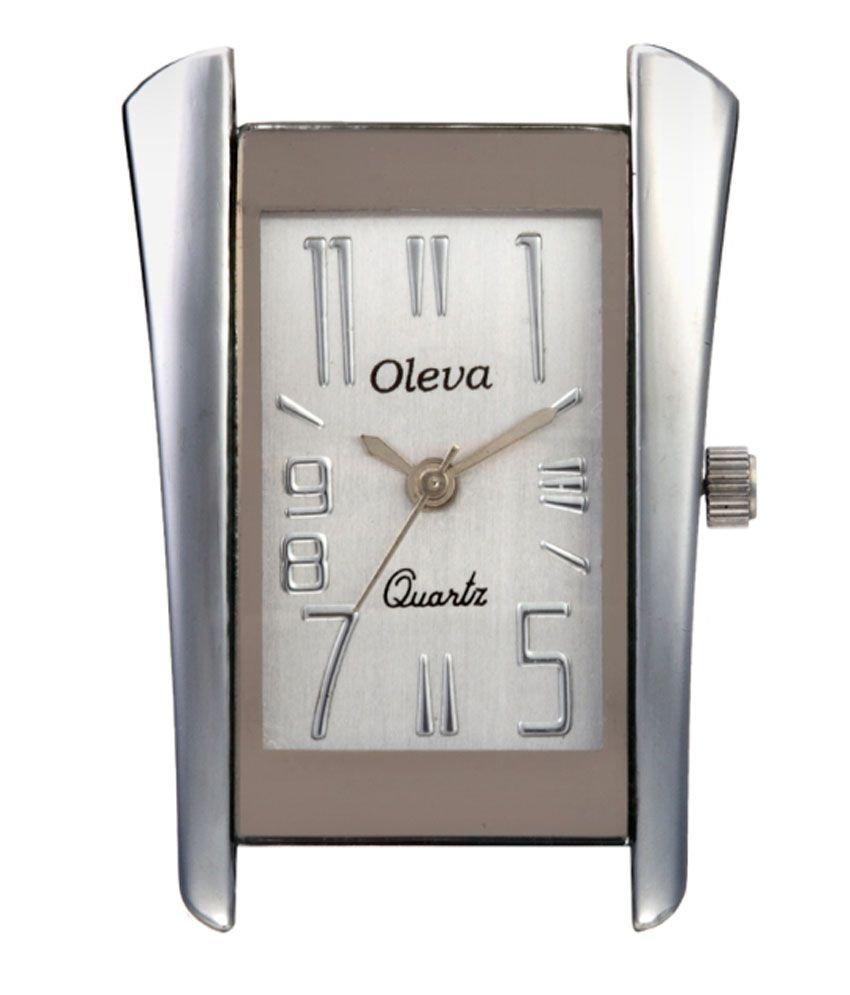 Oleva White metal Watch with sliver stripe OSW For Women